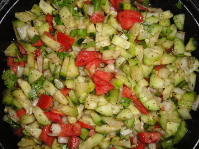 Seasons Salad ( in Persian called  salad Fassel ) summer salad picture