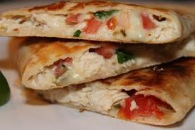 QUESADILLA -GRILLED FLOUR TORTILLA FILLED WITH ROASTED VEGETABLES  by chef montaser, picture