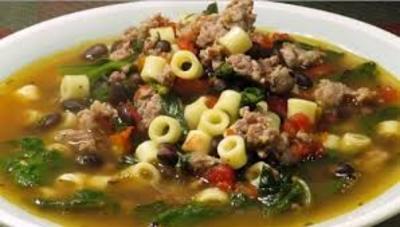 Egg Noodle Italian Sausage Soup picture