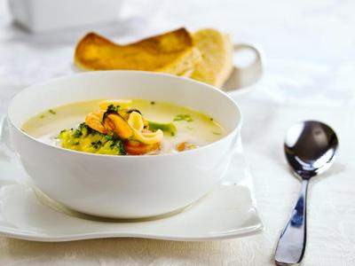 calamari Soup With Mushrooms picture
