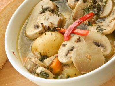 Vegetable Soup With Mushrooms picture