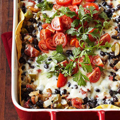 tortilla-black bean casserole picture