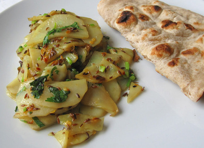 Aloo ki Bhujia, Cumin-Spiced Potatoes, in the Pakistani Manner picture