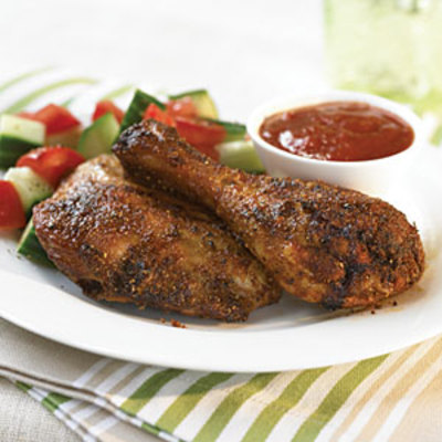 Dry-Rub Chicken with Honey Barbecue Sauce picture