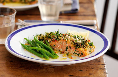 Lemon and chilli crusted salmon picture