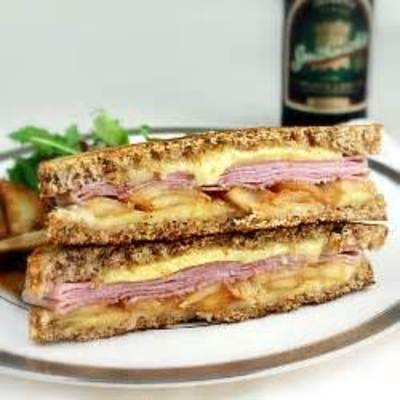 Apple, Ham, and Cheddar Melt picture